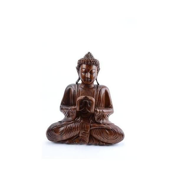 bouddha-assis-en-bois-massif-sculpté-main-h30cm