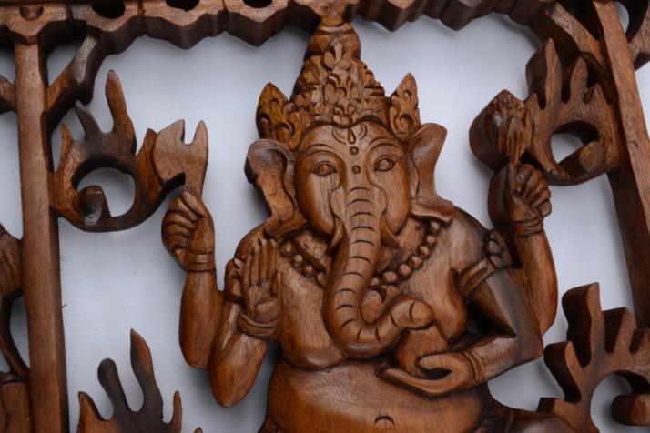 décor-mural-temple-de-ganesh-bois-massif-sculpté-main