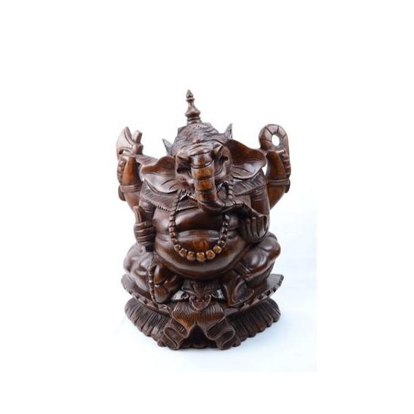 statue-de-ganesh-h35cm-en-bois-massif-sculpté-main
