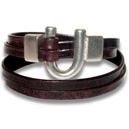 bracelet-femme-cuir-vieilli-fer-a-cheval-brun