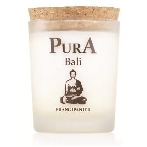 bougie de massage frangipanier Pura Bali
