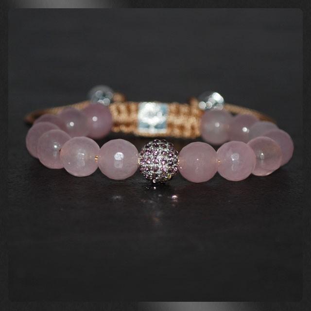 bracelet-shamballa-rose-bonbon